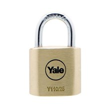 Yale Padlock Y110-25-115 Classic Series Outdoor Solid Brass 25mm with Multi-pack