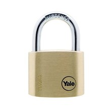 Yale Padlock Y110-40-123 Classic Series Outdoor Solid Brass 40mm with Multi-packFeatures :