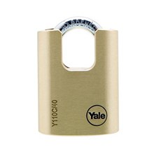 Yale Padlock Y110C-40-119 Classic Series Outdoor Solid Brass Closed Shackle 40mm