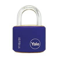 Yale Padlcok Y110J-30-117-2  Classic Series Outdoor Color Brass 34mm with Multi-pack Blue