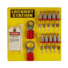 Brady 51188 10-Lock Board and 10 Steel Padlocks