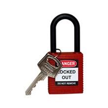 Brady 123333 Safety Padlocks Red with Non-Conductive Nylon Shackle Keyed Alike 3 Pcs