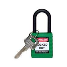 Brady 123344 Safety Padlocks Green with Non-Conductive Nylon Shackle Keyed Alike 6 Pcs