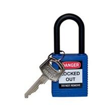 Brady 123343 Safety Padlocks Blue with Non-Conductive Nylon Shackle Keyed Alike 6 Pcs