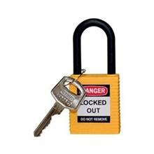 Brady 123345 Safety Padlocks Yellow with Non-Conductive Nylon Shackle Keyed Alike 6 Pcs