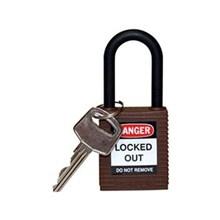 Brady 123348 Safety Padlocks Brown with Non-Conductive Nylon Shackle Keyed Alike 6 Pcs