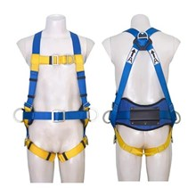 Protecta First 1390033 5-Points Adjustment Full Body Harness with Chest and Dorsal D-Ring and Work Positioning Belt