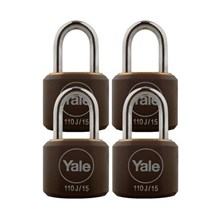 Yale Padlock Y110J-15-111-4 Black Classic Series I