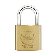 Yale Padlock YE-120 Essential Series Indoor Brass