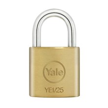 Yale Padlock YE-125 Essential Series Indoor Brass