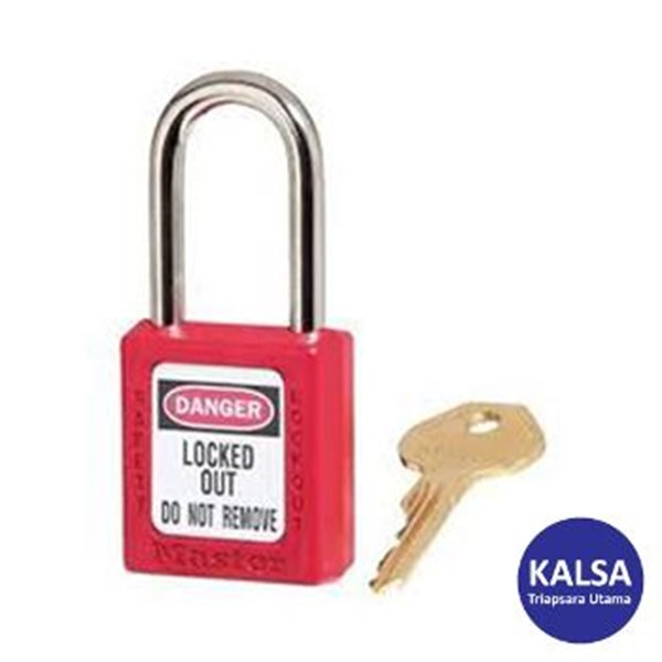 Master Lock 410RED Keyed Different Safety Padlocks Zenex Thermoplastic