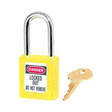 Master Lock 410YLW Keyed Different Safety Padlocks