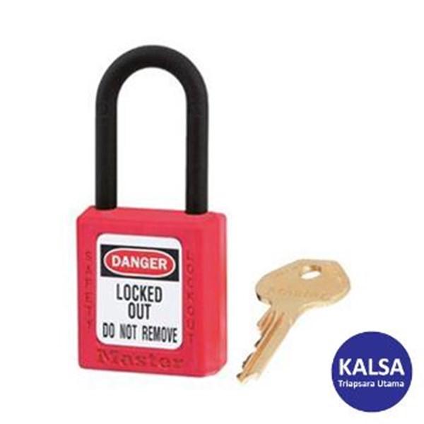Master Lock 406RED Keyed Different Safety Padlocks Zenex Thermoplastic