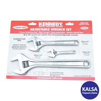 Kennedy KEN-501-1600K Chrome Finish Set Adjustable Wrenches