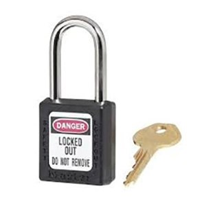 Master Lock 410BLK Keyed Different Safety Padlocks