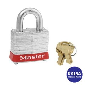 Master Lock 3KARED Keyed Alike Steel Safety Padlocks
