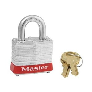 Master Lock 3MKRED Master Keyed Steel Safety Padlocks