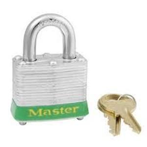 Master Lock 3KAGRN Keyed Alike Steel Safety Padlocks