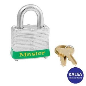 Master Lock 3MKGRN Master Keyed Steel Safety Padlocks