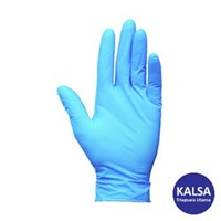 Kimberly Clark 38522 G10 Size L Kleenguard Flex Blue Nitrile Gloves Hand Protection 1
