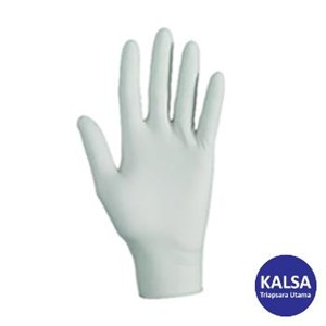 Kimberly Clark 38526 G10 Size L Kleenguard Flex White Nitrile Gloves Hand Protection