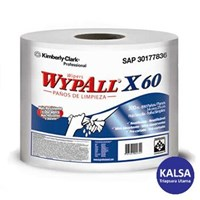 Kimberly Clark 93495 X60 White Wypall Jumbo Roll Wipers 1