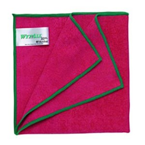 Kimberly Clark 84980 Red Wypall Microfibre with Microban Wipers
