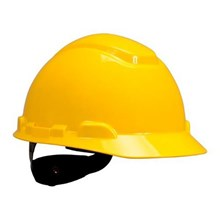 3M H-702R Yellow 4 Point Ratchet Suspension Hard Hat Head Protection