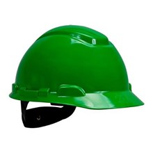 3M H-704R Green 4 Point Ratchet Suspension Hard Hat Head Protection