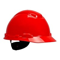 3M H-705R Red 4 Point Ratchet Suspension Hard Hat Head Protection 1