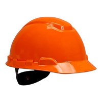 3M H-706R Orange 4 Point Ratchet Suspension Hard Hat Head Protection 1