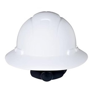 3M H-801R White Full Brim Hard Hat Ratchet Suspension Head Protection