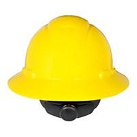 3M H-802R Yellow Full Brim Hard Hat Ratchet Suspension Head Protection 1