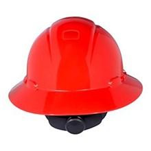 3M H-805R Red Full Brim Hard Hat Ratchet Suspension Head Protection