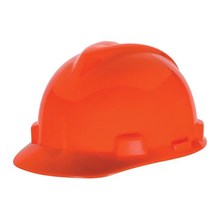 MSA Staz On V-Gard Caps Hi Viz Orange Head Protection