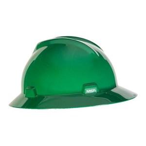 MSA Fastrack V-Gard Hats Green Head Protection