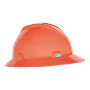 MSA Fastrack V-Gard Hats Orange Head Protection