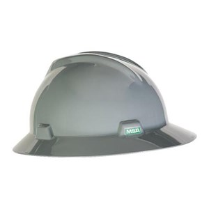 MSA Staz On V-Gard Hats Gray Head Protection