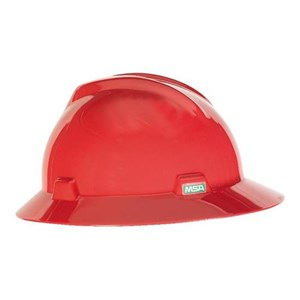 MSA Staz On V-Gard Hats Red Head Protection