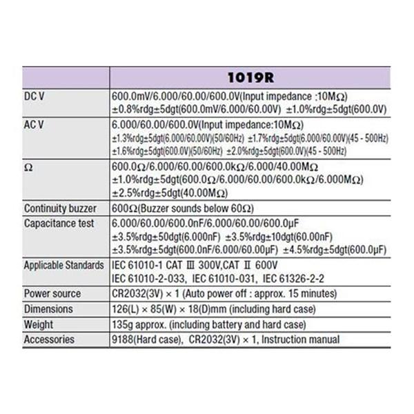 Kyoritsu KEW 1019R Digital Multimeter