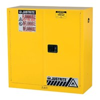 Justrite 893000 Yellow Industrial Safety Cabinet