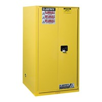 Dari Justrite 896080 Yellow Industrial Safety Cabinet 0