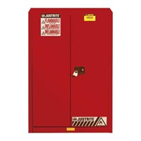 Justrite 894521 Red Industrial Safety Cabinet 1