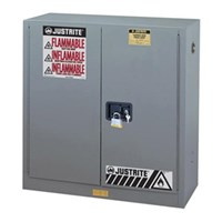 Justrite 894523 Gray Industrial Safety Cabinet 1
