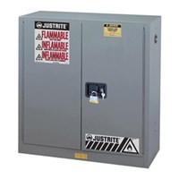 Justrite 899023 Gray Industrial Safety Cabinet 1