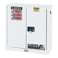 Justrite 893005 White Industrial Safety Cabinet 1