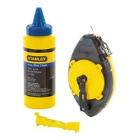 Stanley 47-465 Powerwinder with Red Chalk and Line Level Layout Tool