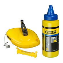Stanley 47-443 with Blue Chalk Line and Line Level Layout Tool