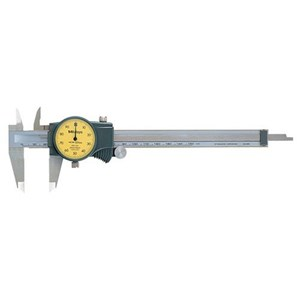 Mitutoyo 505-730 Metric with 2 mm Per One Revolution Dial Caliper