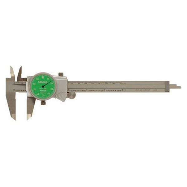 "Mitutoyo 505-742-53 Inch with 1"" Per One Revolution Dial Caliper"